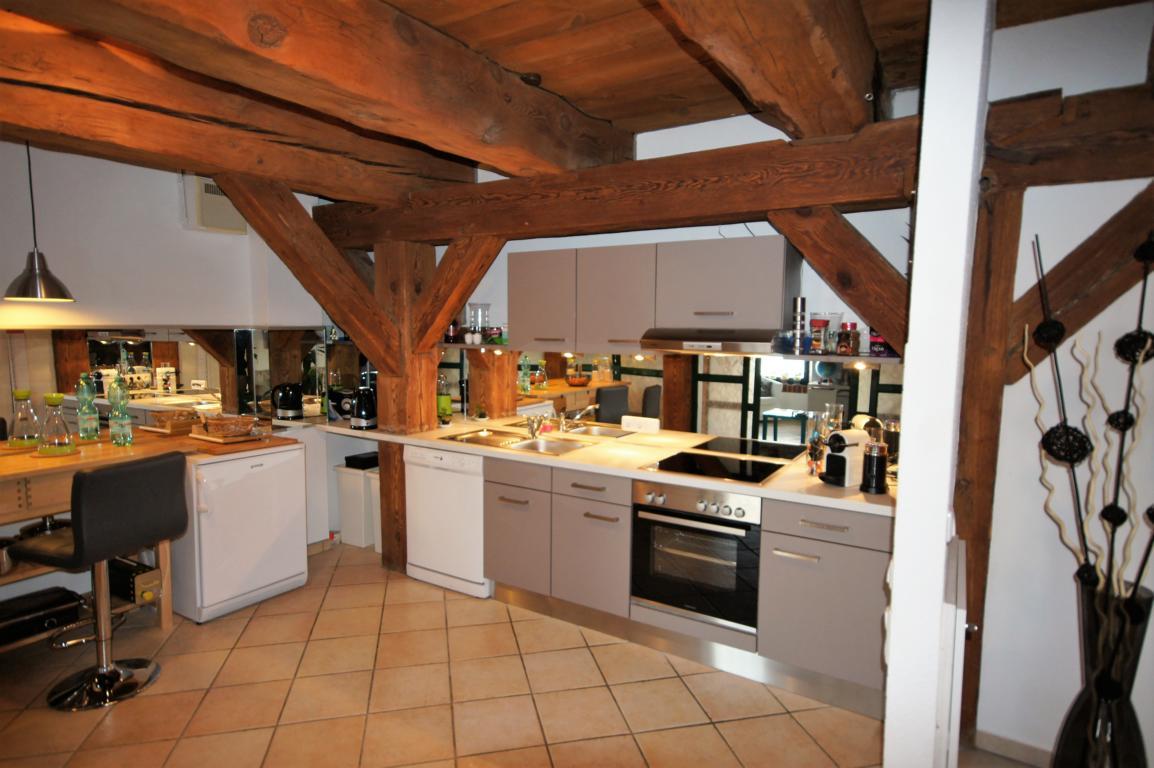 Kanalpackhaus die Küche im Gebälk